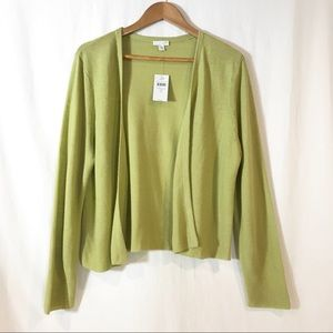 J. Jill Linen Blend Open Knit Cardigan New w/ Tags